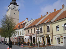 Trojičné Square with a City Tower